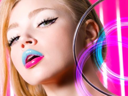 Maquiagem De Lábios Colorida Carnaval