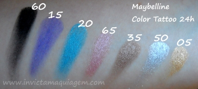 Color Tattoo Swatches