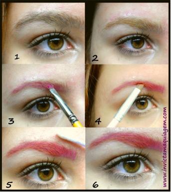 Tutorial - maquiagem colorida de sobrancelhas