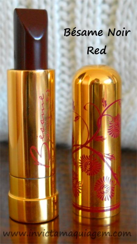 Noir Red Lipstick da Bésame Cosmetics