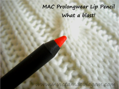 MAC what a blast prolongwear lip pencil